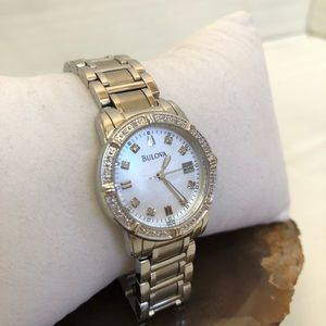 Bulova 96R105 Women's Quartz Diamond Accent Watch